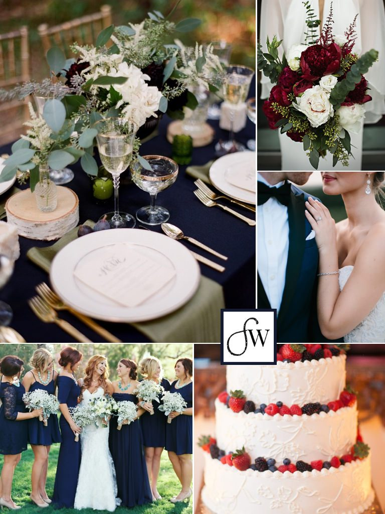 Find out how to make red, white, and blue a sophisticated color scheme for your wedding with our July 4th inspiration board!
