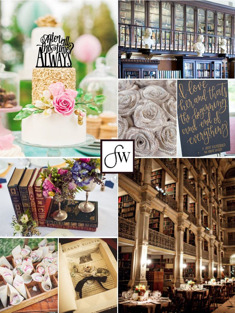 Want to bring literary, but classic, elements into your wedding? We show you how!