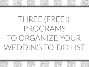 Three free programs to help you organize your wedding to-do list! We show how you can use Asana, Trello, and Google Keep for your wedding!