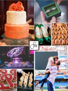 Philadelphia sports wedding inspiration board