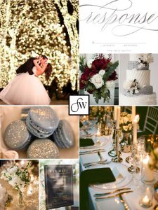 Inspiration board: a neutral & sparkly December wedding