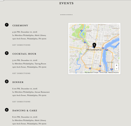 Minted wedding website review, Smartly Wed: adding events