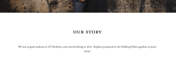 Minted wedding website review, Smartly Wed: setting up the site