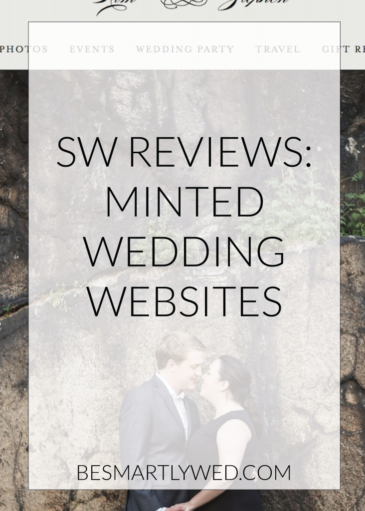 Minted offers beautiful wedding websites, with both free & paid plans - our review covers everything you'll ever need to know about Minted wedding websites!